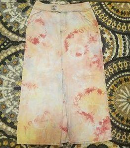 100 Cotton Custom Dyed Liz High Waist Jean Skirt